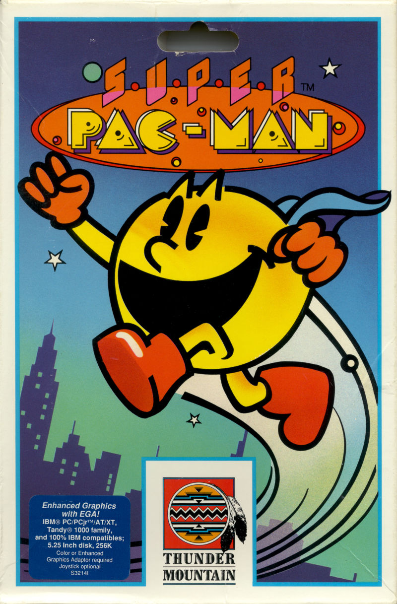 Super Pac-Man DOS Front Cover