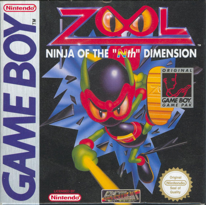 Zool Game Boy Front Cover