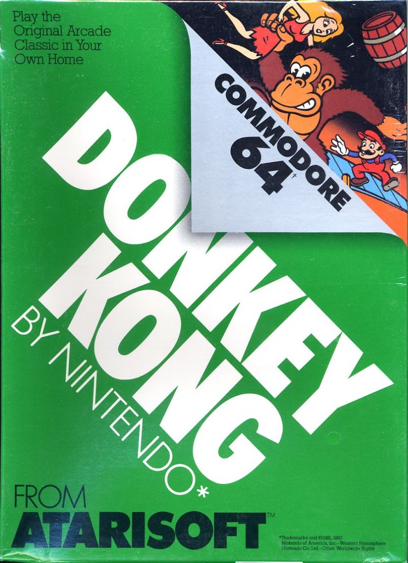 Donkey Kong Commodore 64 Front Cover