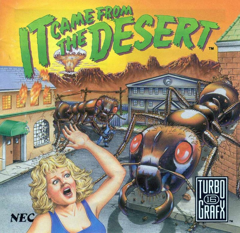 It Came from the Desert TurboGrafx CD Front Cover