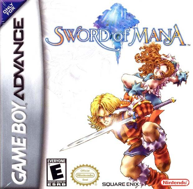 Sword of Mana Game Boy Advance Front Cover