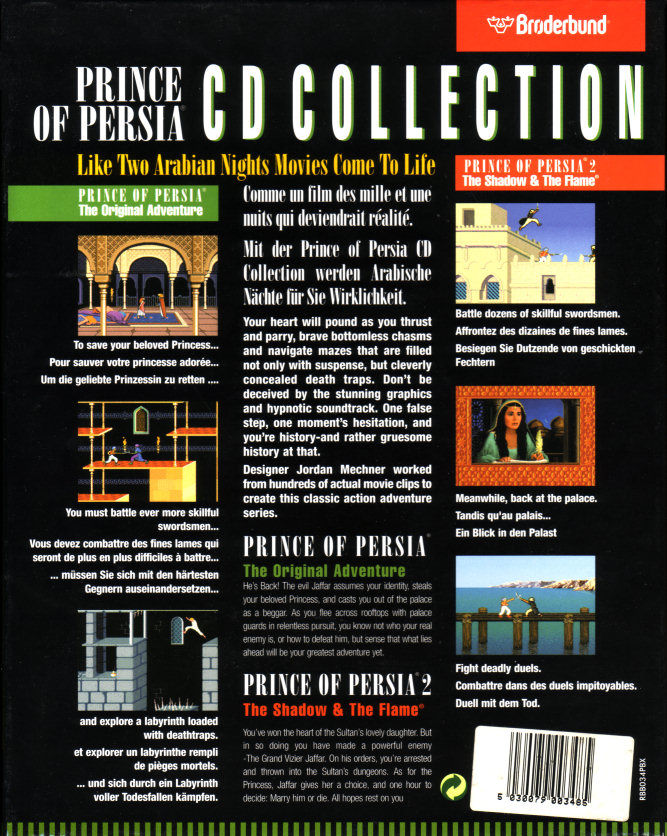 Prince of Persia CD Collection - Back Cover