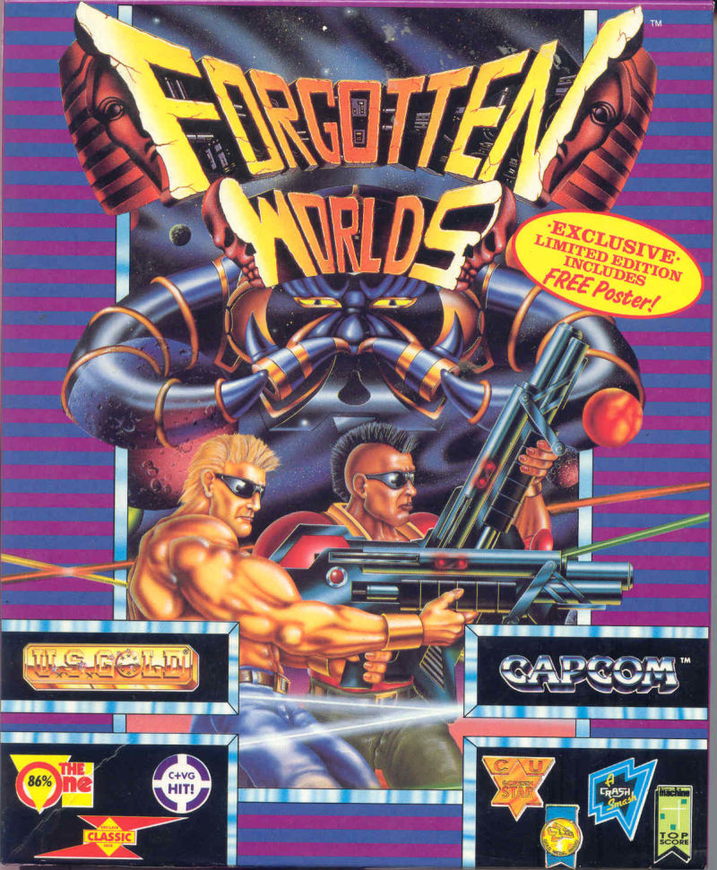 Forgotten Worlds Amiga Front Cover
