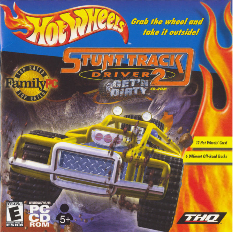 Hot Wheels: Stunt Track Driver 2: GET 'N DIRTY Windows Front Cover