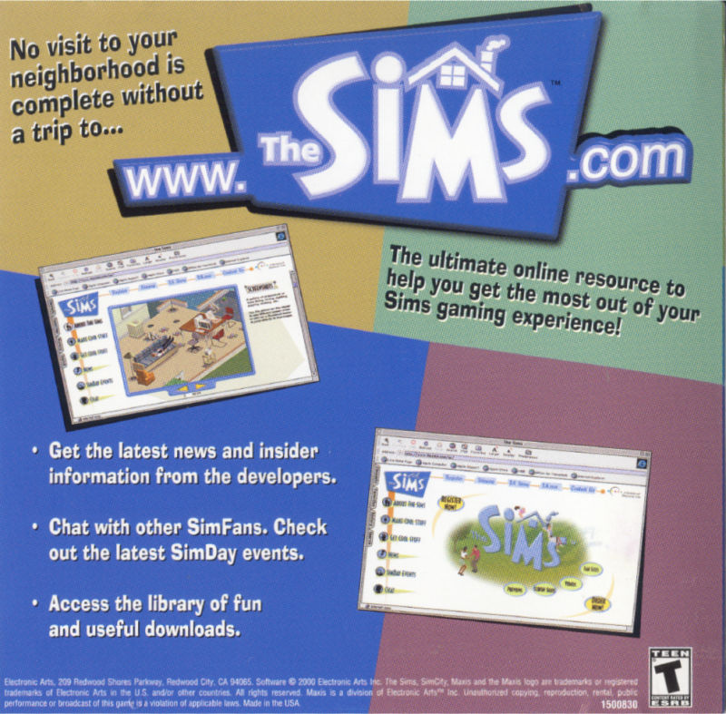 The Sims Windows Other Jewel Case - Left Inlay