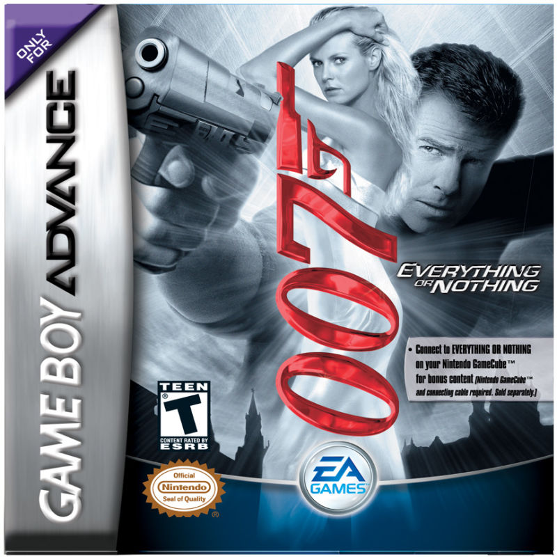 007: Everything or Nothing Game Boy Advance Front Cover