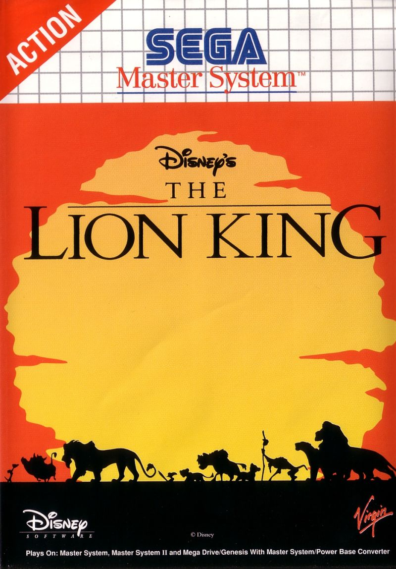 The Lion King SEGA Master System Front Cover