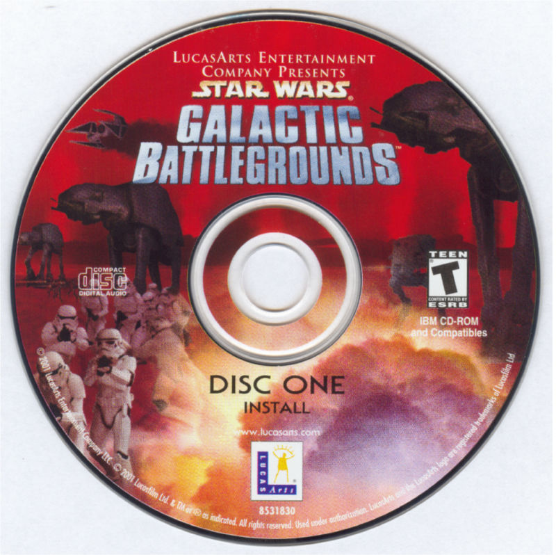 Star Wars: Galactic Battlegrounds Windows Media Disc 1/2