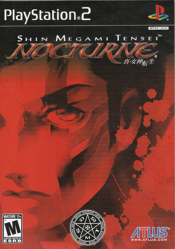 Shin Megami Tensei: Nocturne PlayStation 2 Front Cover
