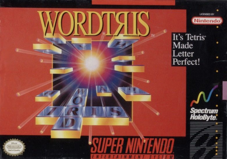 Wordtris  SNES Front Cover