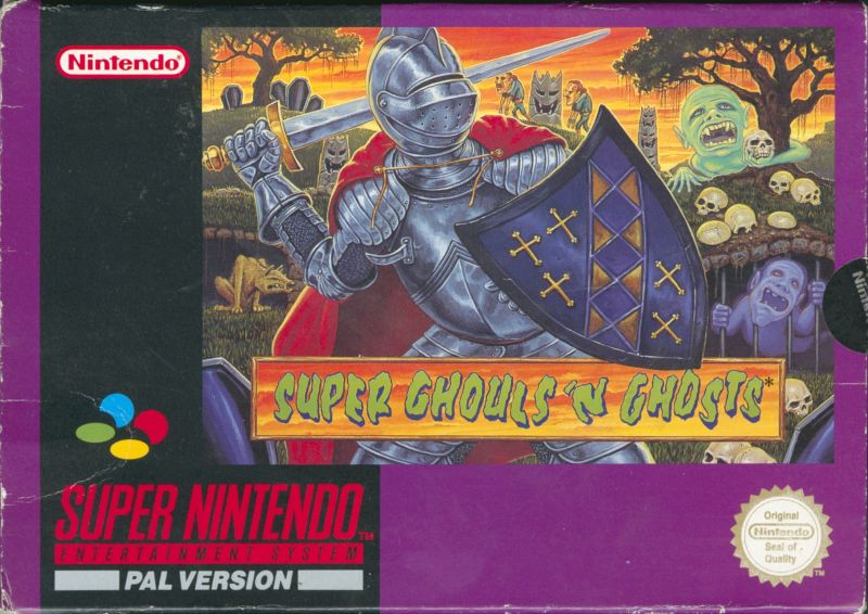 Super Ghouls 'N Ghosts SNES Front Cover