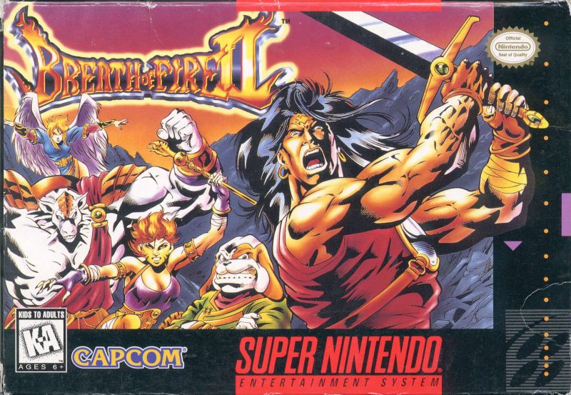 Breath of Fire II SNES Front Cover