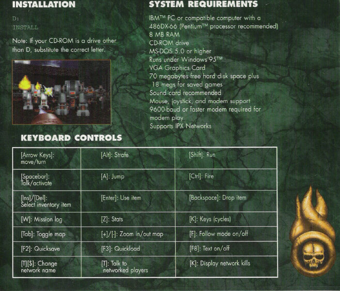 Strife DOS Other Jewel Case: Back Cover