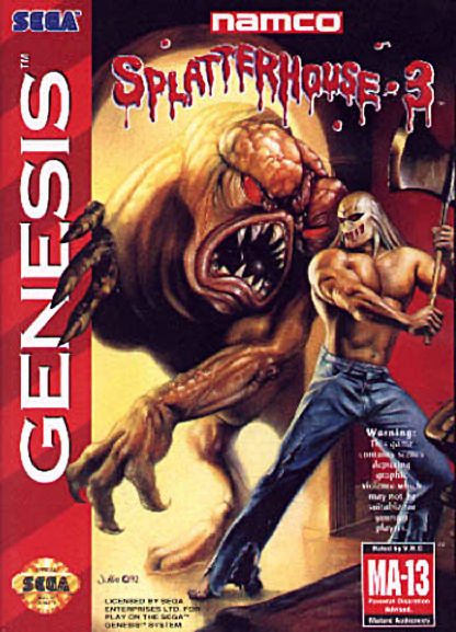 Splatterhouse 3 Genesis Front Cover