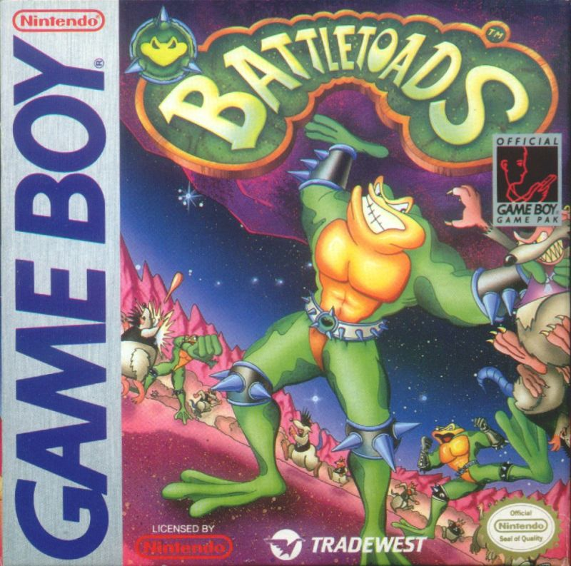 Battletoads Game Boy Front Cover