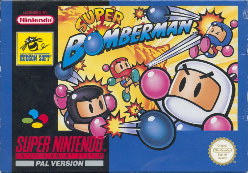 Super Bomberman SNES Front Cover