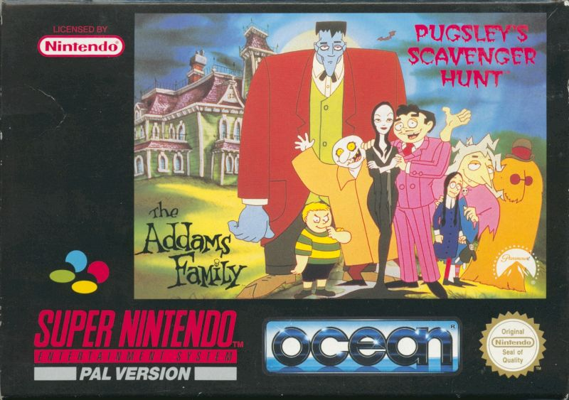 The Addams Family: Pugsley's Scavenger Hunt SNES Front Cover