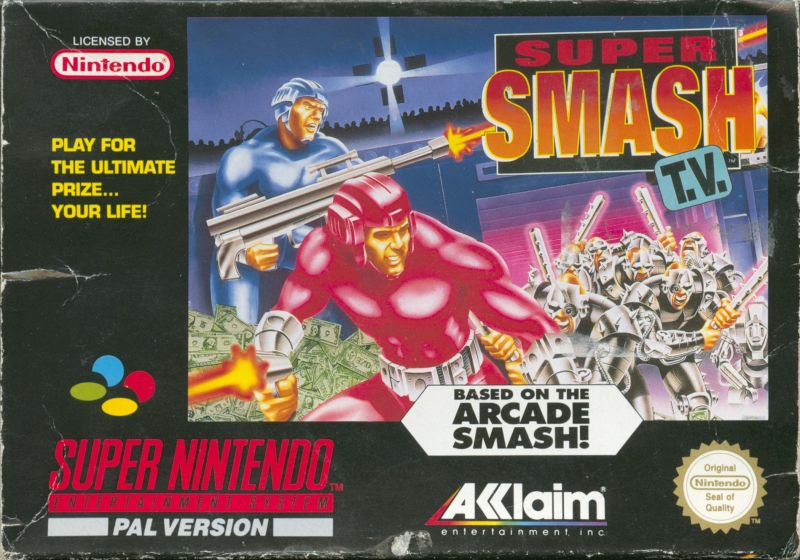 Smash T.V. SNES Front Cover