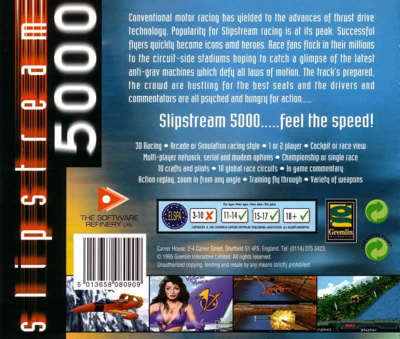 Slipstream 5000 DOS Other Jewel Case - Back