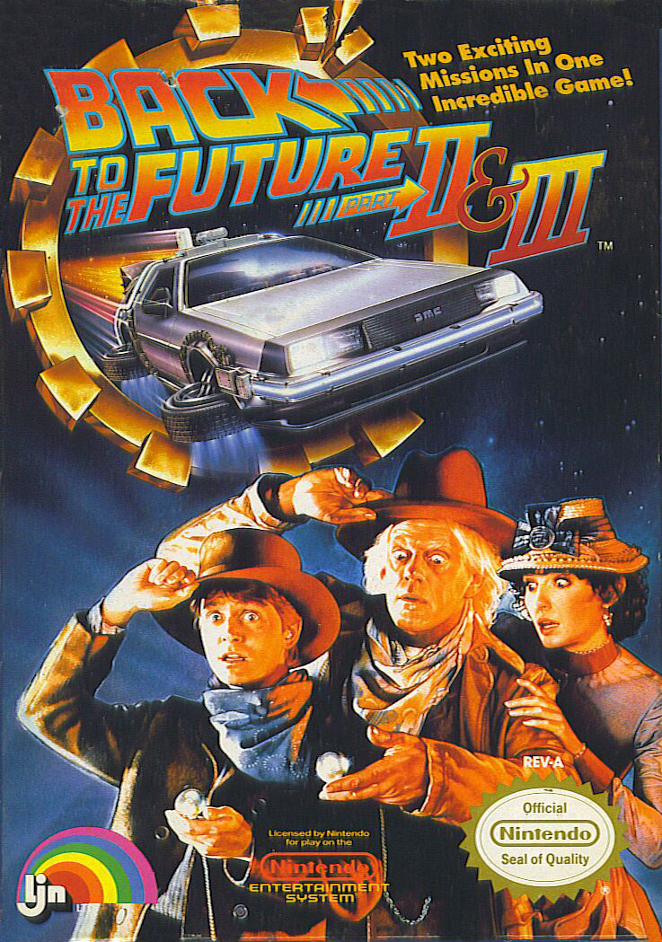 Back to the Future Part II & III NES Front Cover