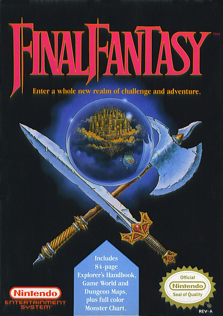 Final Fantasy NES Front Cover