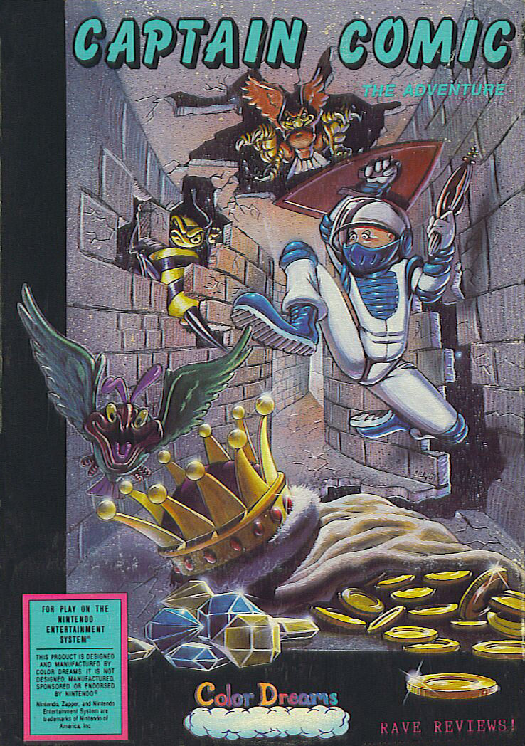 The Adventures of Captain Comic NES Front Cover