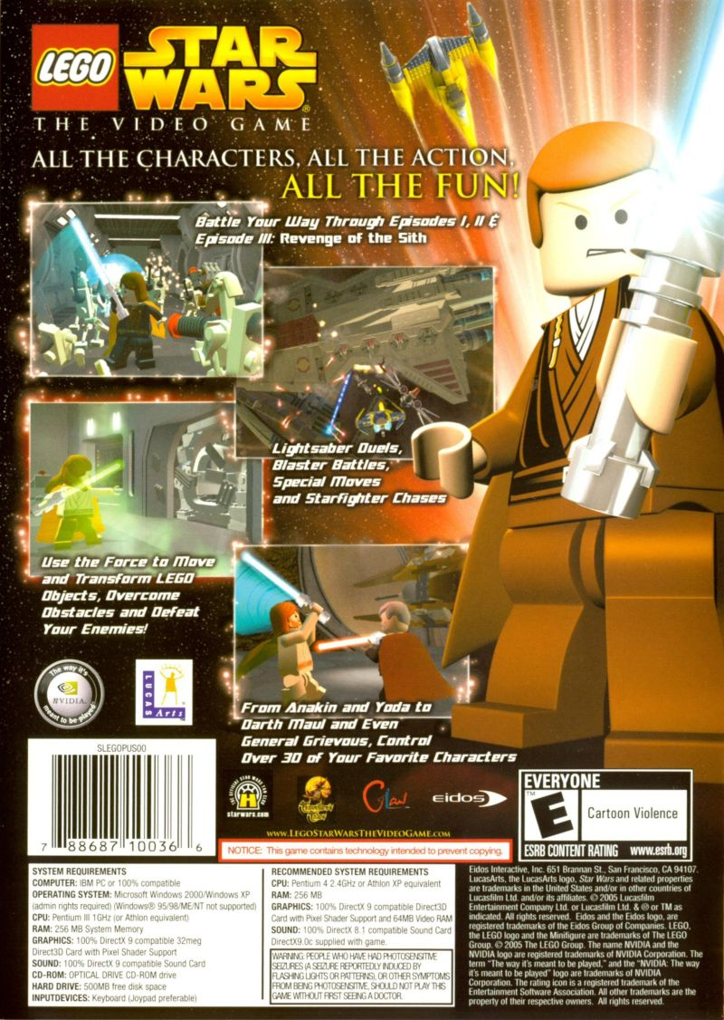LEGO Star Wars: The Video Game Windows Other Keep Case - Back