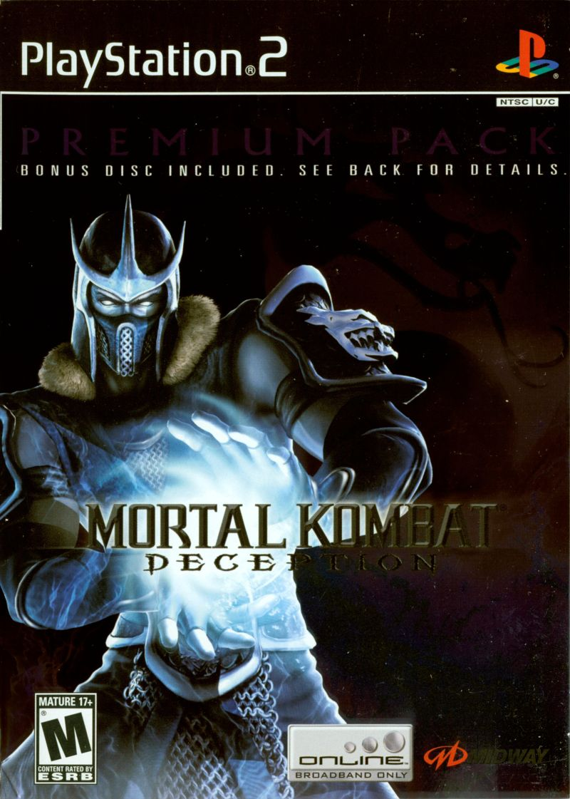 Mortal Kombat: Deception: Premium Pack PlayStation 2 Front Cover