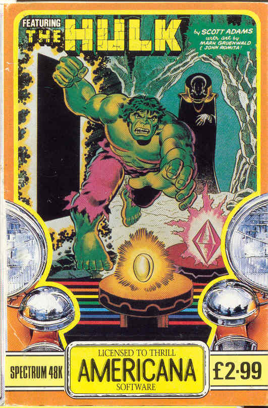 The Hulk ZX Spectrum Front Cover