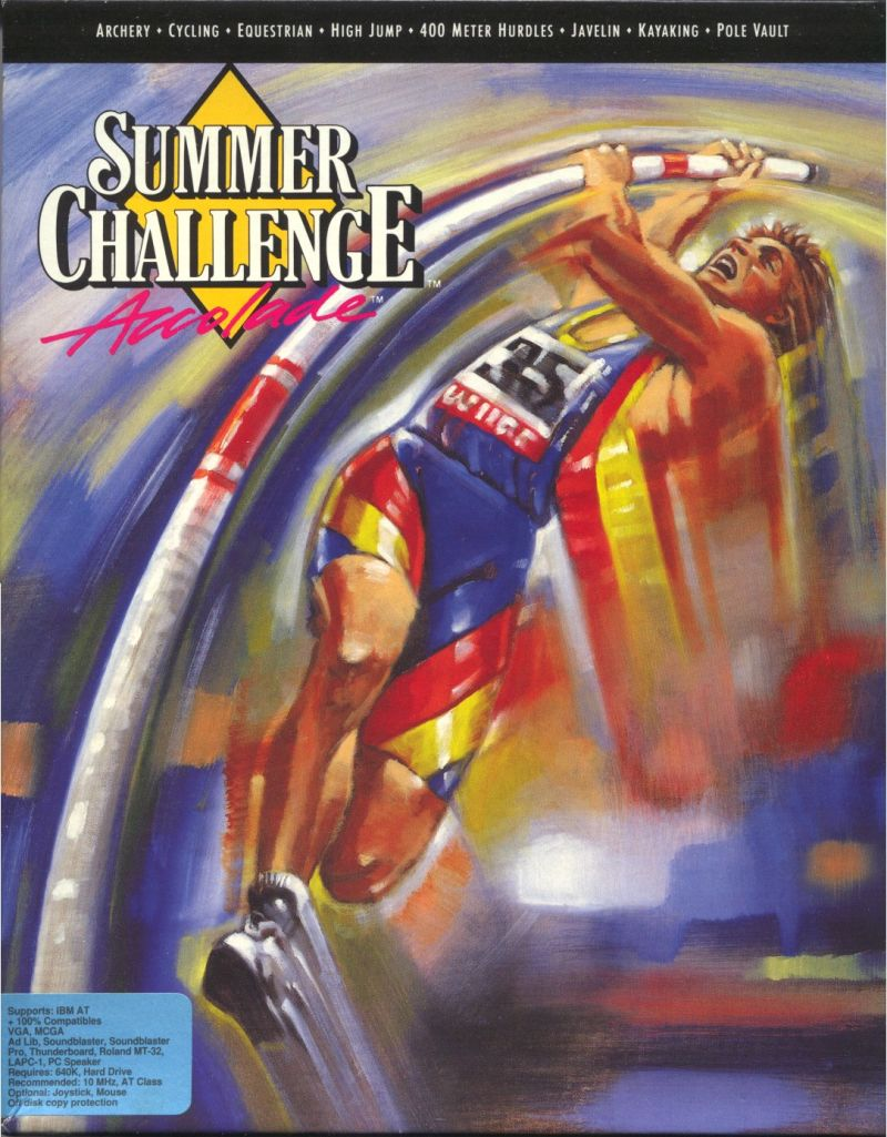 The Games: Summer Challenge DOS Front Cover