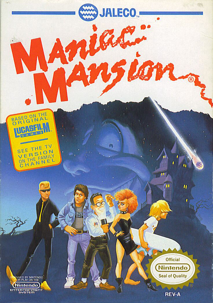 Maniac Mansion NES Front Cover
