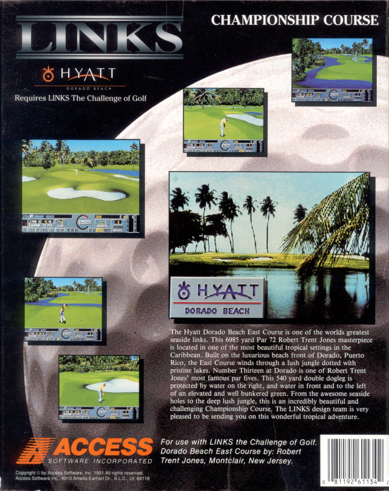 Links: Championship Course - Hyatt Dorado Beach DOS Back Cover