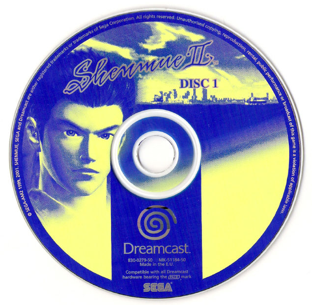 Shenmue II Dreamcast Media Disc 1