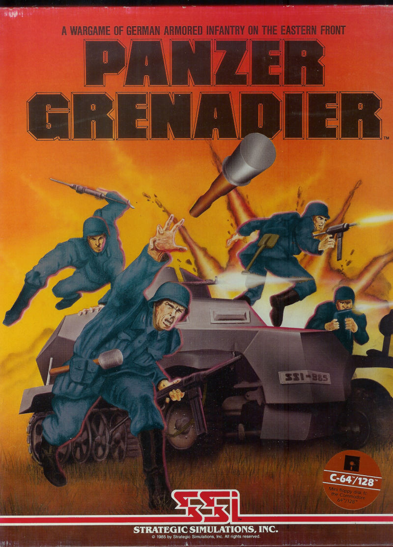 Panzer Grenadier Commodore 64 Front Cover