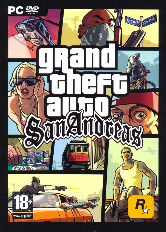Grand Theft Auto: San Andreas Windows Front Cover