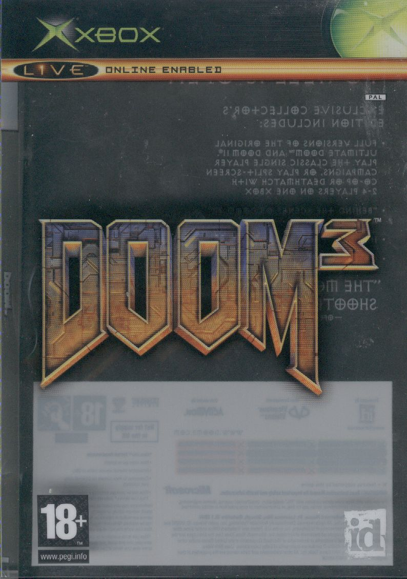 DOOM³ (Limited Collector's Edition) Xbox Front Cover