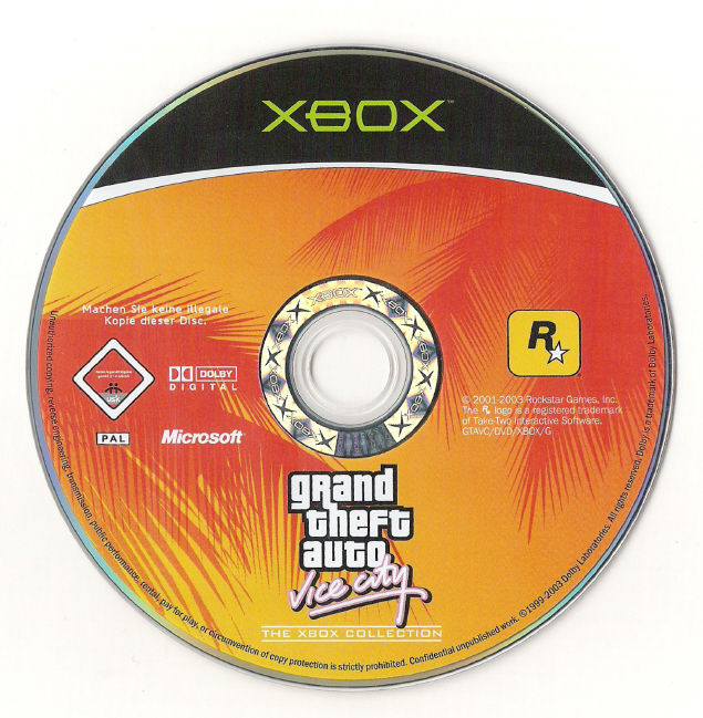 Rockstar Games Double Pack: Grand Theft Auto Xbox Media GTA Vice City