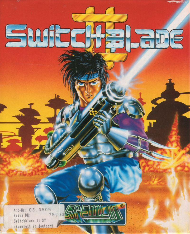 Switchblade II Atari ST Front Cover