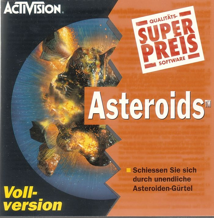 Asteroids Windows Front Cover
