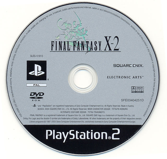 Final Fantasy X-2 PlayStation 2 Media