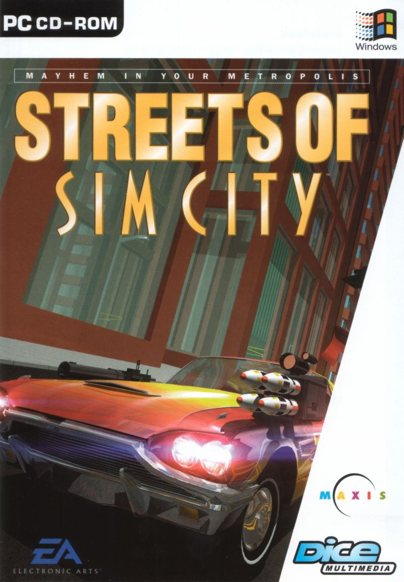 Streets of SimCity Windows Front Cover