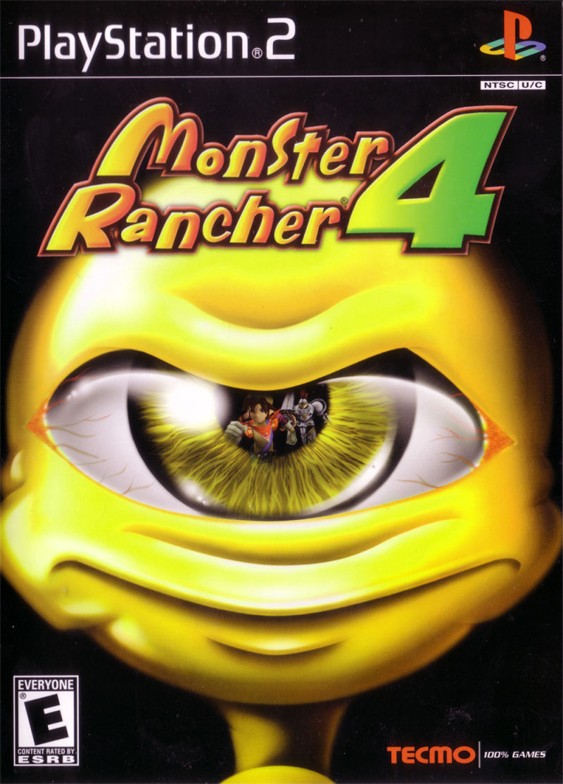 Monster Rancher 4 PlayStation 2 Front Cover