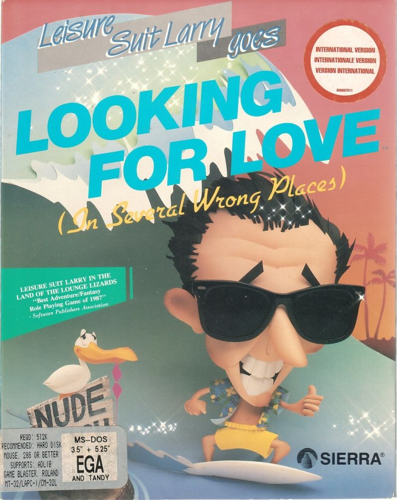 Leisure Suit Larry Goes Looking for Love (In Several Wrong Places) DOS Front Cover