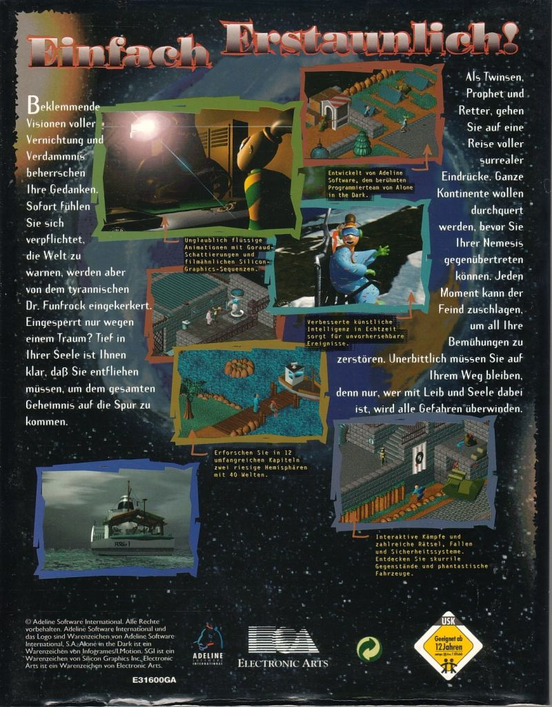 Relentless: Twinsen's Adventure DOS Back Cover