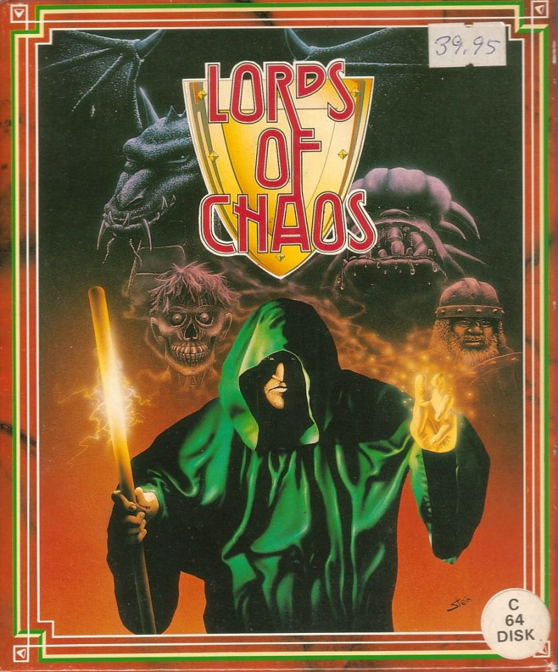 Lords of Chaos Commodore 64 Front Cover