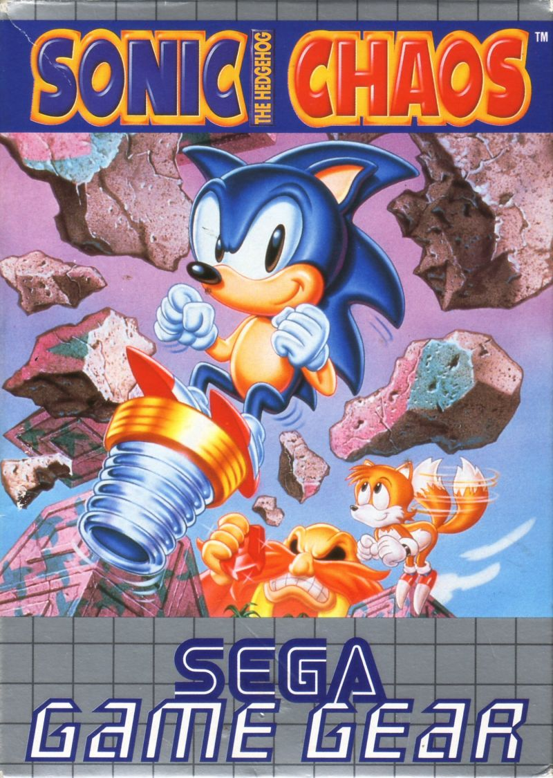 Sonic the Hedgehog Chaos Game Gear Front Cover