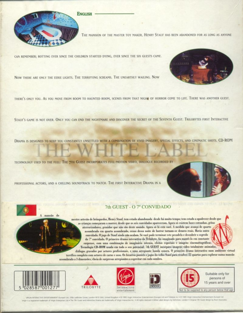 The 7th Guest DOS Back Cover