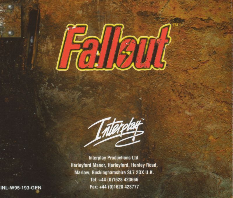Fallout Windows Other Jewel Case - Back