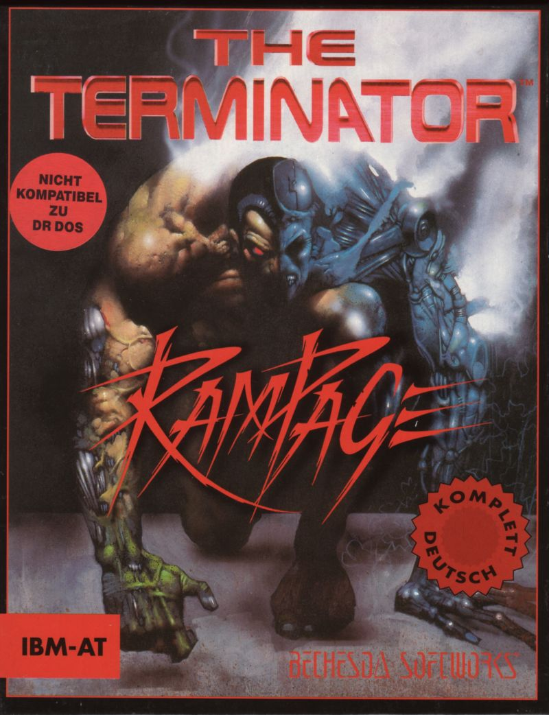 The Terminator: Rampage DOS Front Cover