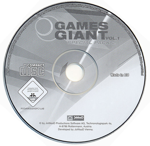 15 Giant Games Vol.1 Windows Media Itch! + Pusher disc